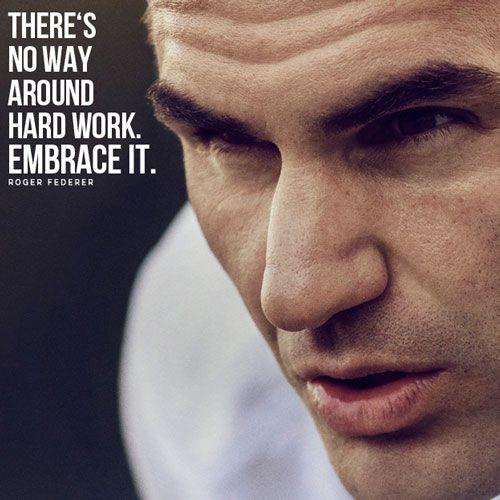 """Federer: """"Nie ma drogi na skróty. Pracuj ciężko. Pogódź się z tym""""."""